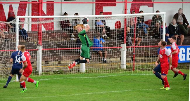 Selby Town keeper Dylan Parkin in action. Picture: Harvey Brewster