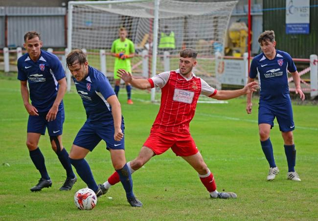 Selby Town striker Liam Flanagan, who netted to secure the Robins' first league win of term. Picture: Harvey Brewster