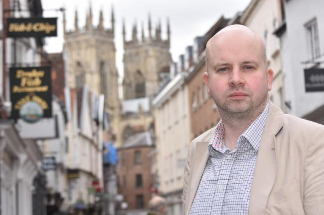 Phil Pinder said businesses are concerned about the low numbers of residents visiting the city centre