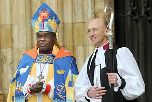 The new Bishop of Whitby, Martin Warner, after h