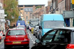 Is traffic in Gillygate back to the bad old days, as in this file picture?