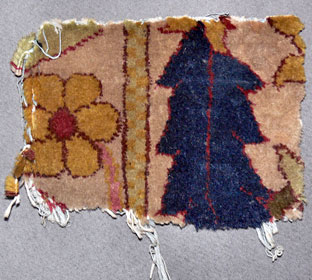 A piece of carpet from Hitler's bunker
