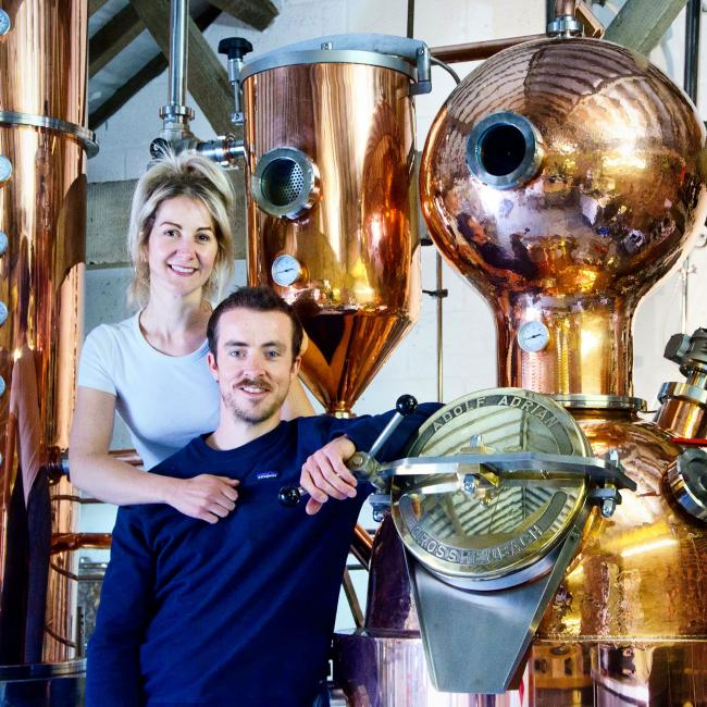 Jessica Slater and Luke Pentith, founders of Whitby Distillery, have won consent to renovate two derelict barns in the shadow of Whitby Abbey after outgrowing their premises.
