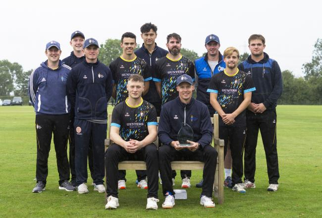 The York CC team with the Dan Woods Memorial T20 trophy. Picture: Ian Parker