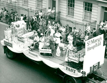 The Lord Mayor's Parade in 1971. Float 48, St. Mary's Hospital.