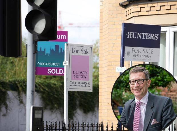 House prices have increased significantly in York with, inset, Ben Hudson, managing director of Hudson Moody