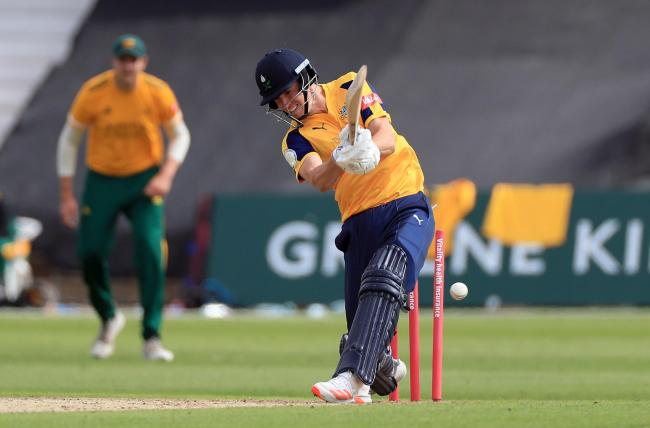 Yorkshire all-rounder Matthew Fisher in action against Notts Outlaws. Picture: Mike Egerton/PA Wire