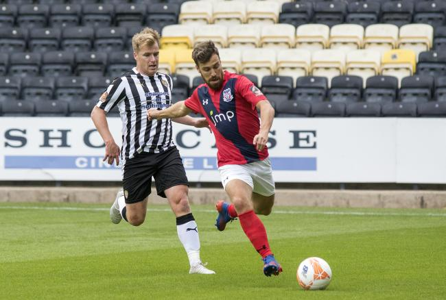 Michael Duckworth on the ball for York City at Notts County. Picture: Ian Parker