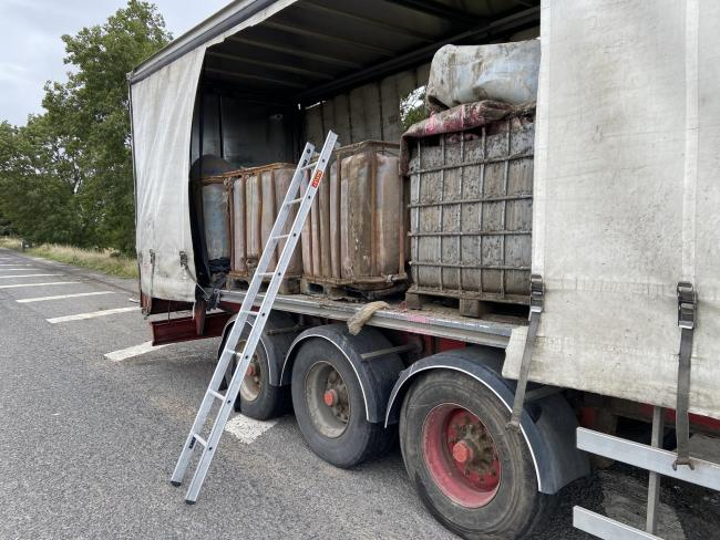 The lorryload of unknown substances found near South Milford