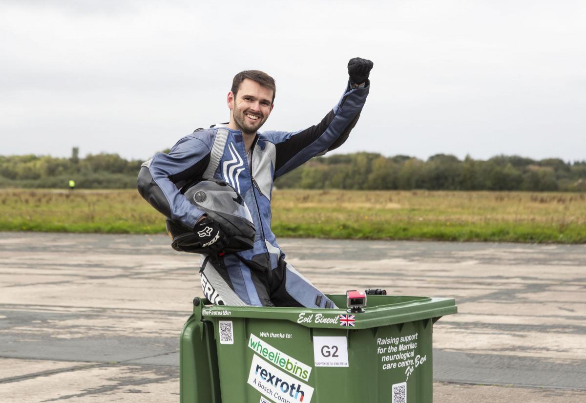 World's fastest wheelie bin smashes record at Elvington Airfield | York  Press
