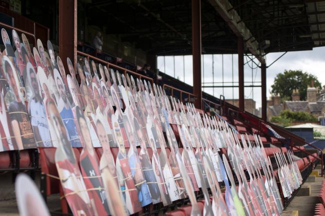 Cardboard cutout fans at put in place at Bootham Crescent for the club's Vanarama National League North play-off semi-final against Altrincham. Picture: Ian Parker