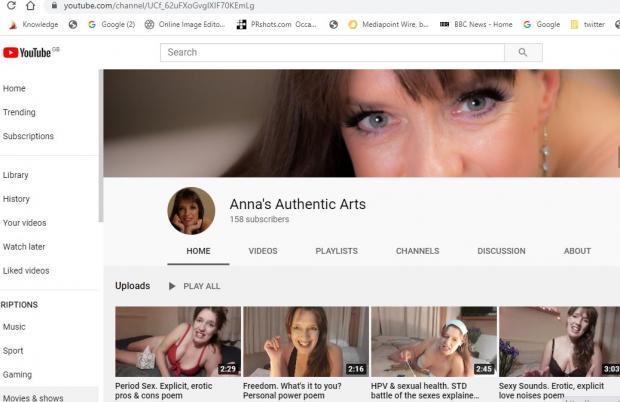 York Press: The home page of Anna Semlyen's new YouTube channel: Anna's Authentic Arts