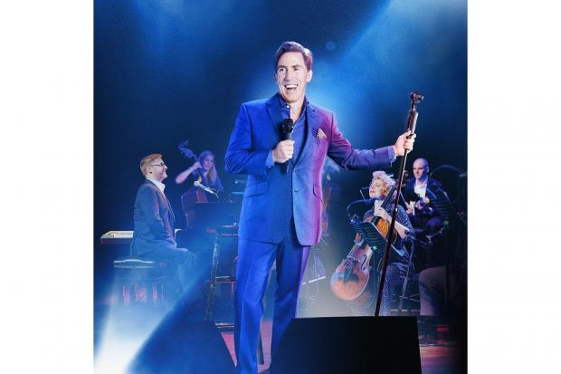 Rob Brydon: Playing with his band in 2021 at York Barbican