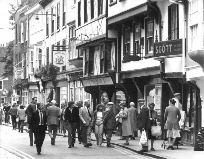 Scott the butcher's Low Petergate in 1983