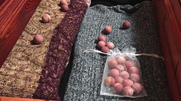 York Press: Cedar balls will keep pests away from your clothing. Credit: Cedar Space