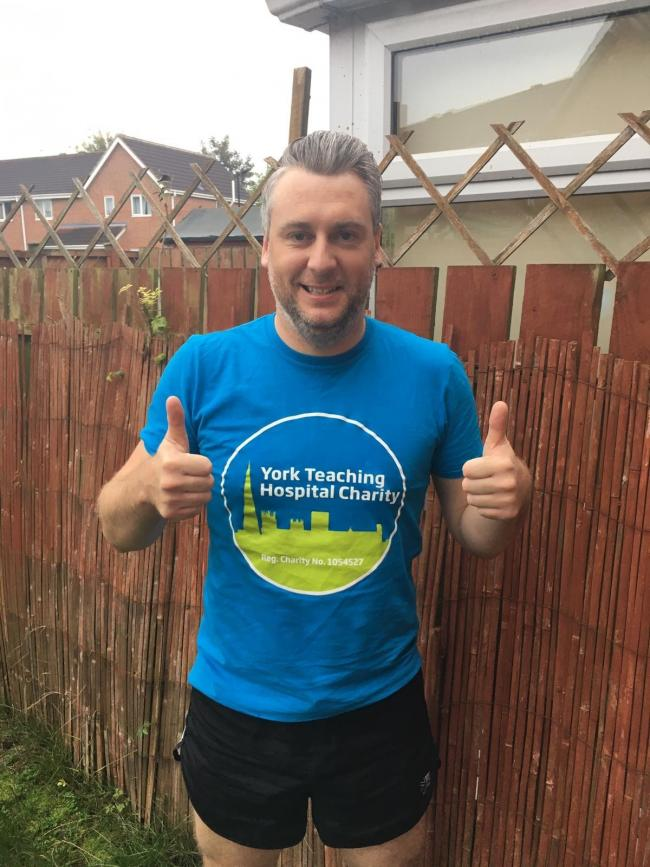 'Big chip man' Oliver Dale completed the gruelling task to support York Hospital