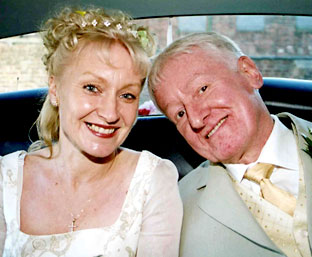 York pub landlord Philip Cain with his wife, Julia, on their wedding day in 2004 - 1198755