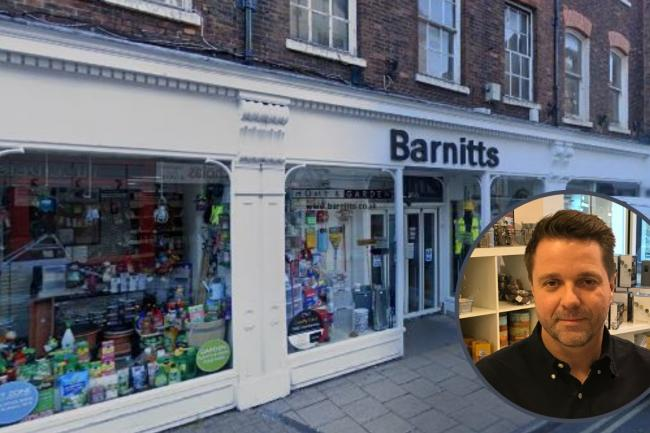 The Barnitts store in Colliergate with (inset) managing director Paul Thompson