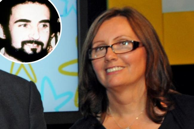 Fran Clee with Peter Sutcliffe, inset