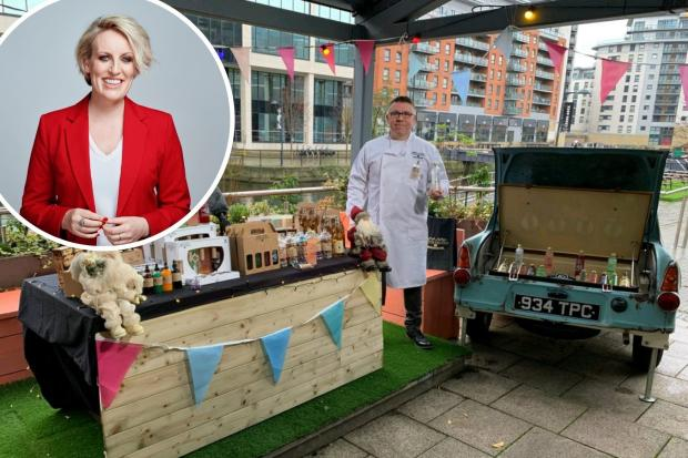 Ben Fry on the set of Packed Lunch and, inset, Steph McGovern Picture: PA