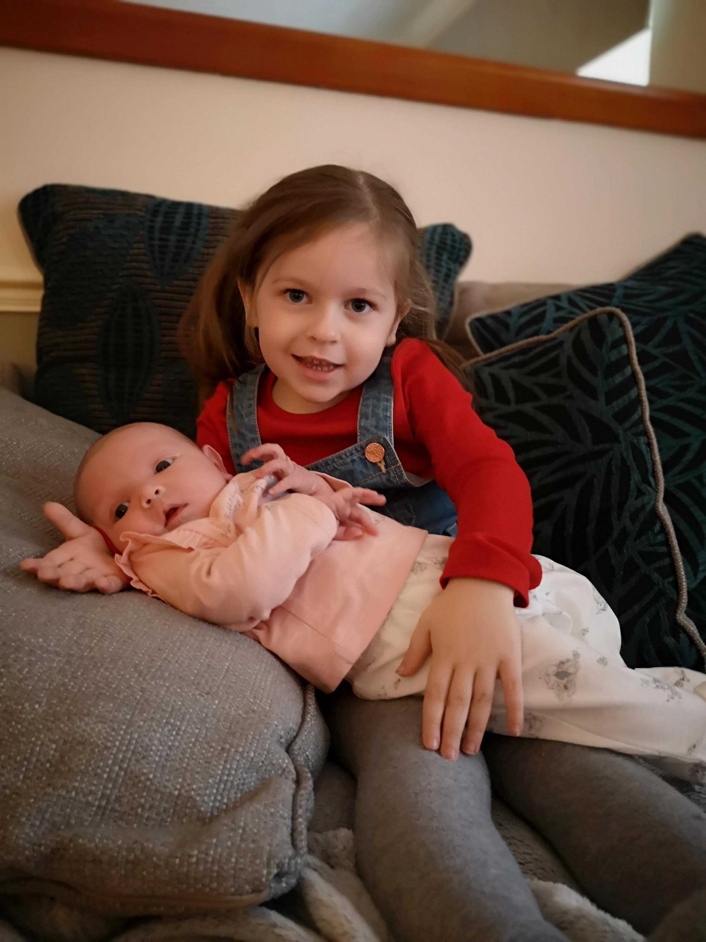 York Press: Bonnie-Rae with her big sister Millie-Mae. Bonnie-Rae was born on October 12  at York Hospital to Emma and Andy Gargan of Acomb, York.