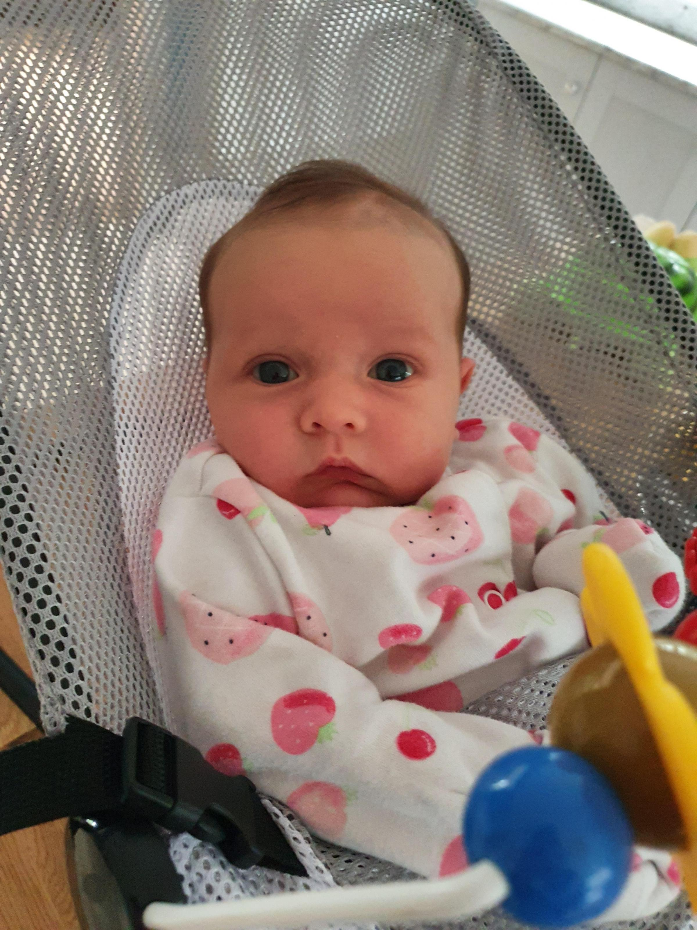 York Press: Ava Rey Rose Hall was born at York Hospital on August 29 to Heidi  and Michael Hall, of Holme Upon Spalding Moor, York. Here she is at  5 weeks old.