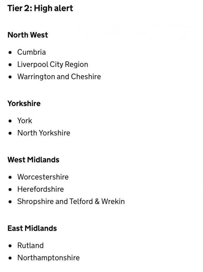 North Yorkshire to join York in Tier 2 from December 2