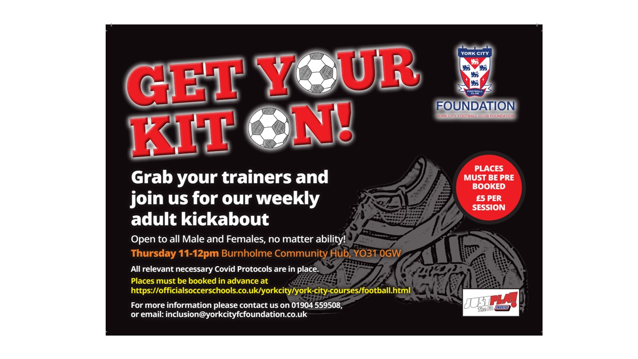 York City Football Club Foundation - Get Your Kit On!
