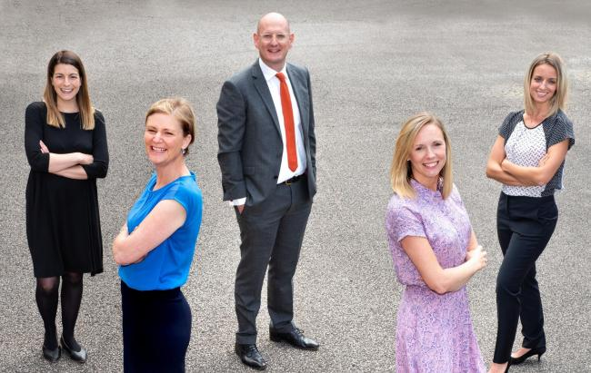 Torque Law, Employment Law Firm, York  (l-r), Emma Cousins, Tiggy Clifford, Tom Watkins, Emma Whiting and Tori Jackson   Picture Frank Dwyer