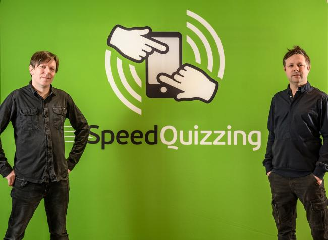 Brothers and Speed-Quizzing co-founders John, left, and Alan Leach.