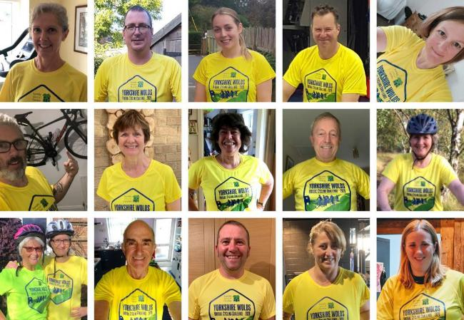 Some of the participants in the 2020 Yorkshire Wolds Cycle Challenge, which raised £20,000 for Ryedale Special Families (RSF), after it was forced to go virtual due to the coronavirus pandemic