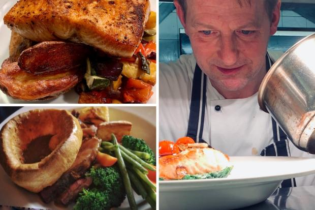 NIck Julius and some of his dishes at 31 Castlegate, York