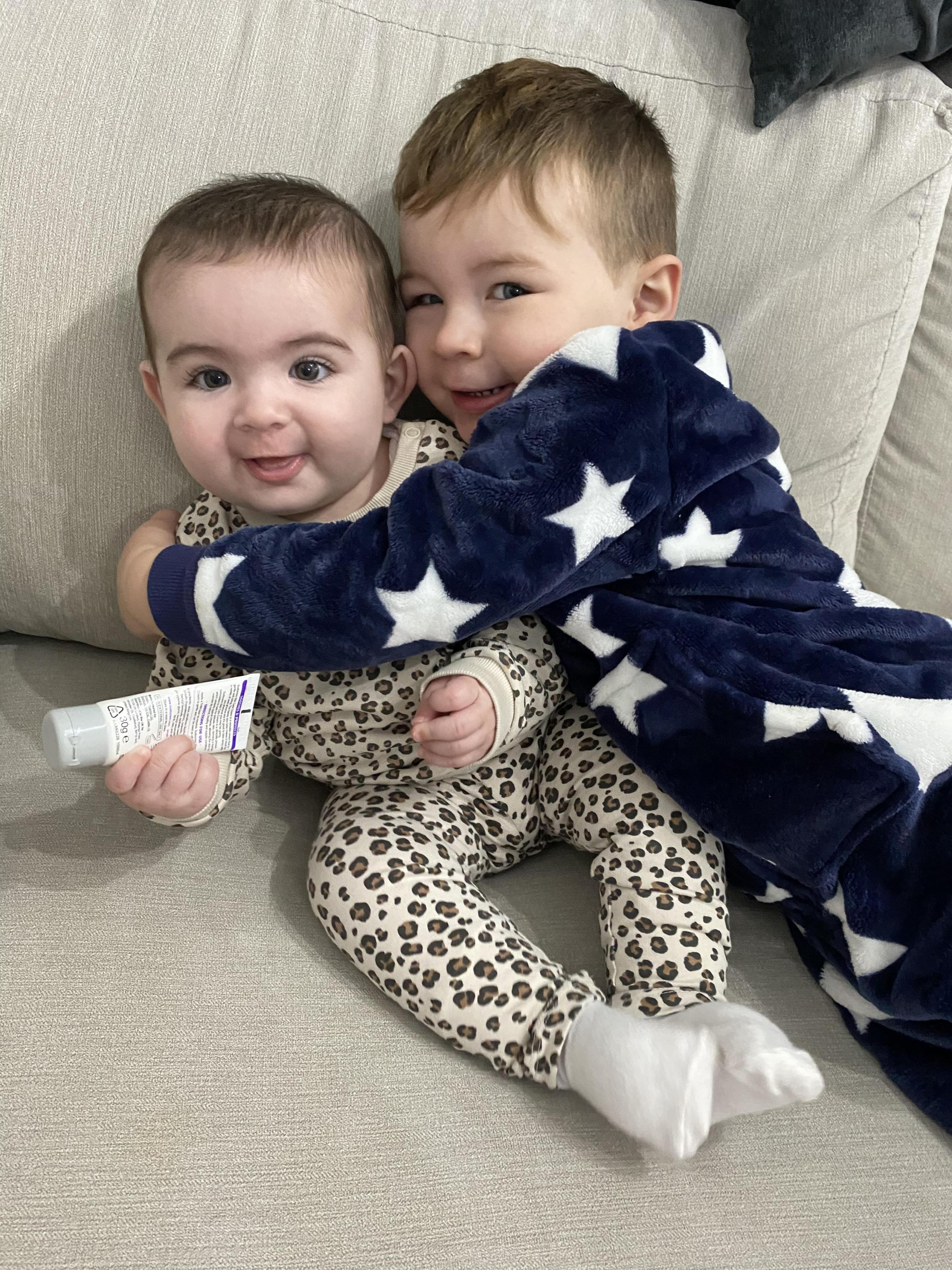York Press: Willow Joyce Dale was born on July 2 at York weighing 8lb to Georgina Sherwood and Nick Dale of New Earswick, York.Her is Willow with her big brother Franky, aged two.