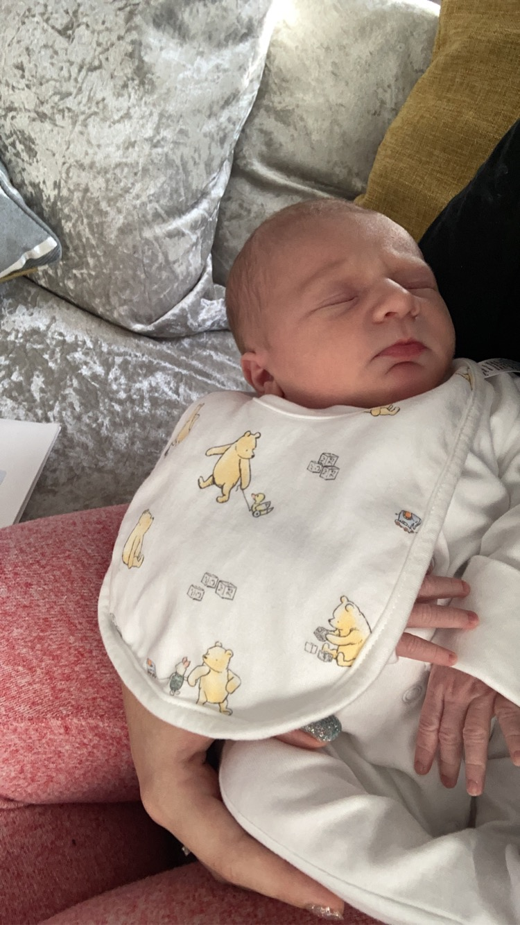 "York Press: Reggie Andrew Spencer born on Christmas Eve 2020 weighing 7lb 3oz to Drew Johns of York  and Michael Spencer of Wakefield! ""After two days of induction the little man finally arrived. I couldn't thank my two delivery midwives enough for all their hard wor"