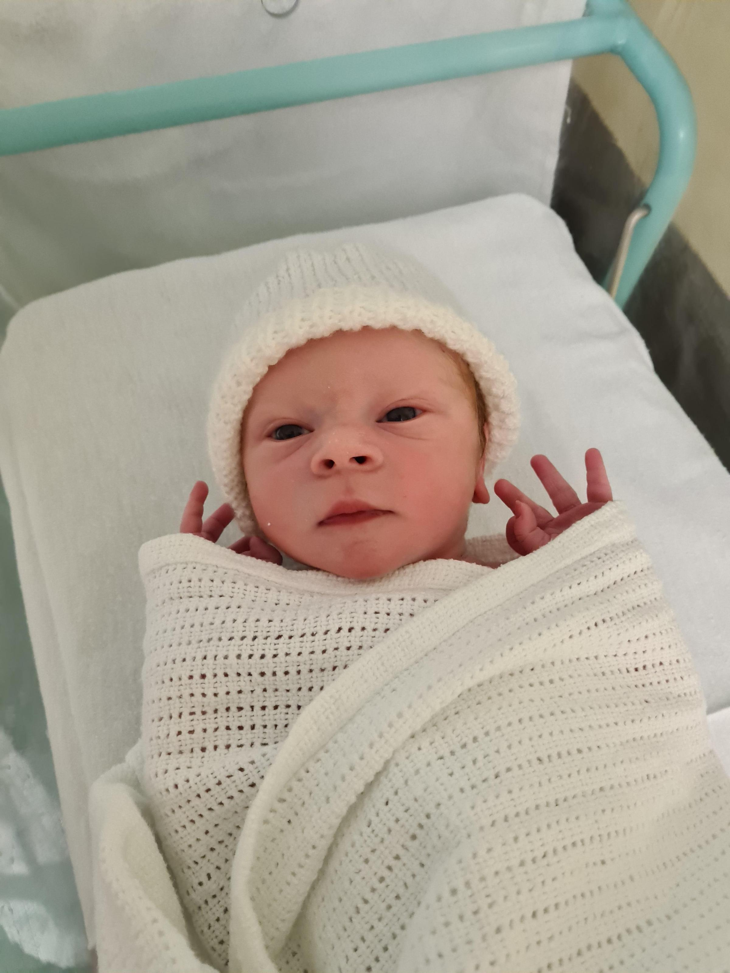York Press: Russell Leon Hukin born on October 29 at York Hospital to Amy Brooks and Will Hukin of Heworth, York, weighing 6lbs 13oz
