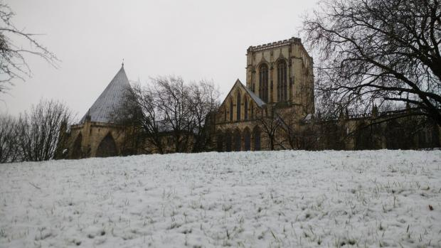 York Press: York Minster in the settled snow this morning. Picture by Press Camera Club member Garry Hornby