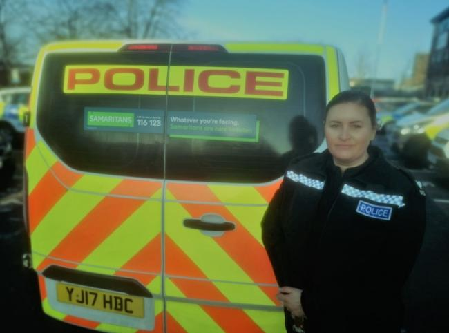 Sergeant Elaine Malcolm with one of the newly-signed vans