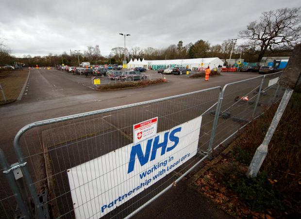 York Press: General view of the vaccination centre at Askham Bar park-and-ride in York. Picture: Danny Lawson/PA Wire