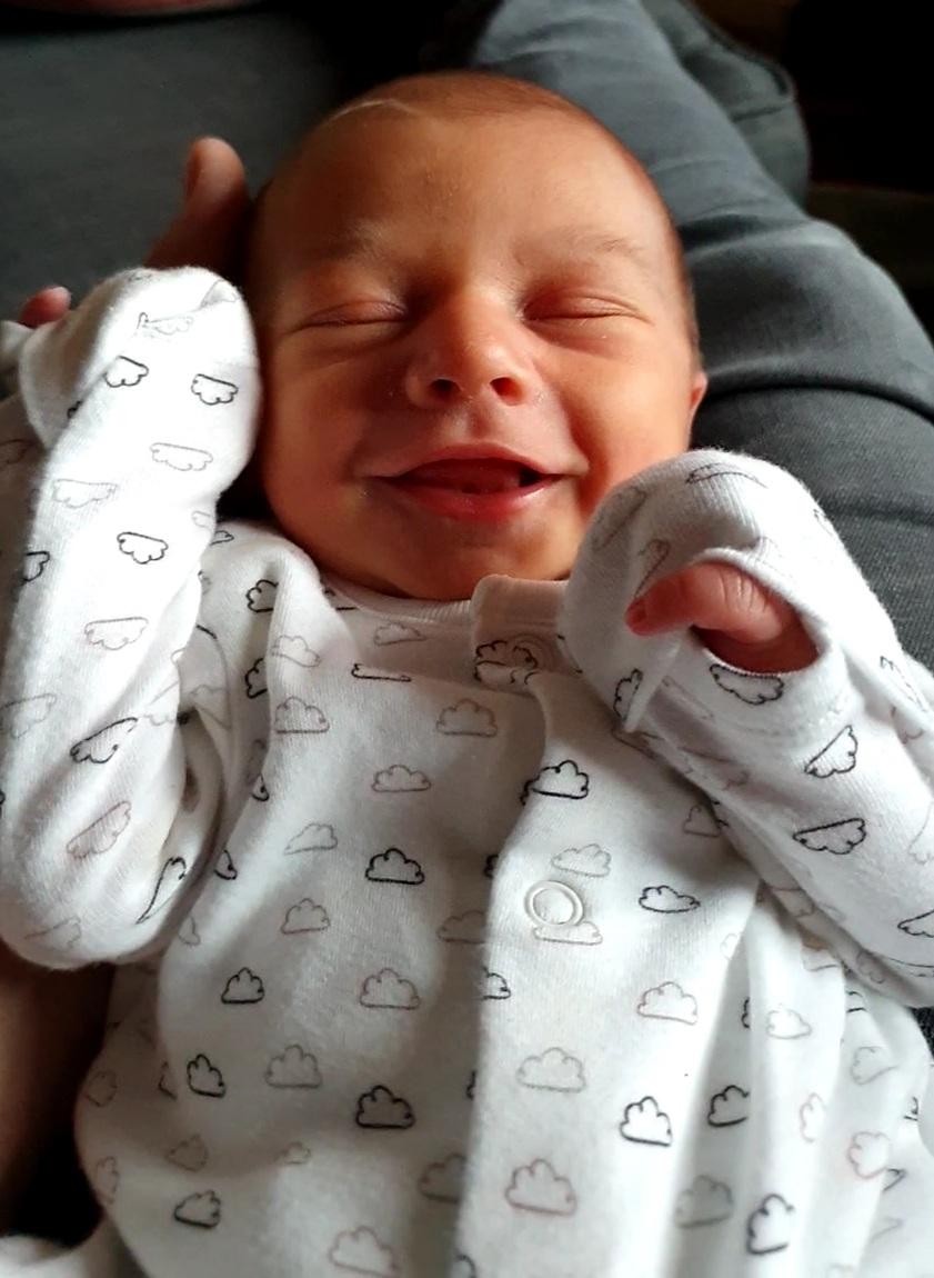 York Press: Finnleigh Edward George Sage, born weighing 7lbs 10ozs on  September 28 2020, a week after his due date. He was born at York Hospital to Ruth and Karl Sage of Dringhouses, York.