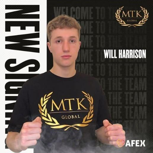 Professional boxer Will Harrison has signed an advisory deal with MTK Global. Picture: MTK Global