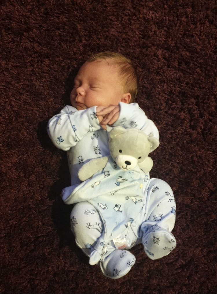 York Press: Oliver George Thompson. Oliver was born at York Hospital on Monday 4th January, the day the country went back into a national lockdown. Ollie weighed 9lbs 14oz.