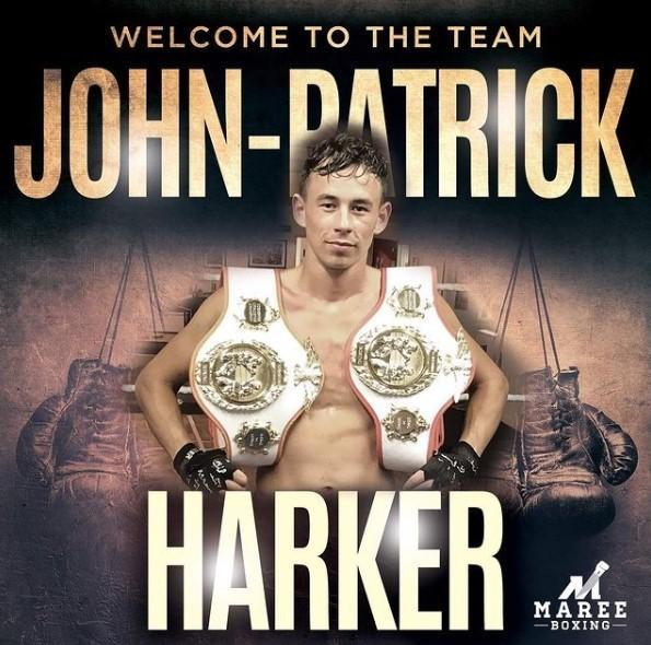 Newly turned professional boxer John Patrick Harker. Picture: Maree Boxing
