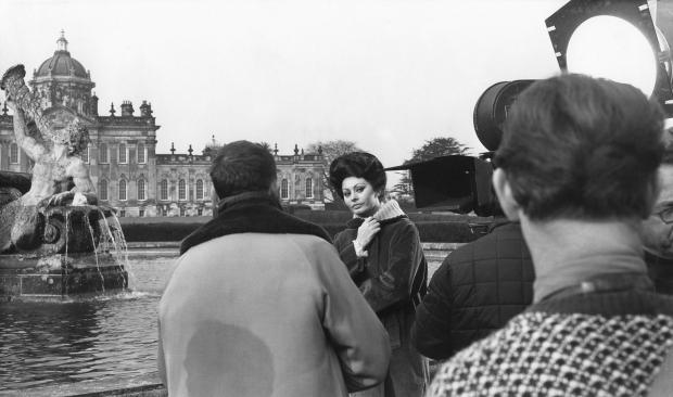 York Press: Sophia Loren on the set of Lady L at Castle Howard