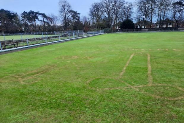 York Press: The phallic images on a bowling green at West Bank Park in York