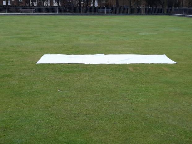 York Press: A swear word cut into the turf has been covered up