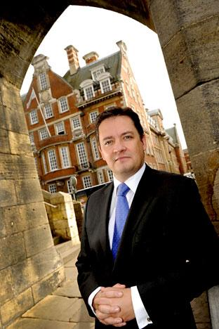General manager Andrew Coney from Cedar Court Grand Hotel & Spa