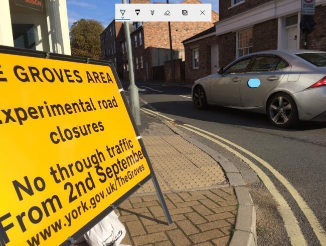 The Groves traffic trial: likely just to move pollution from one area of York to another, says Nick Parker