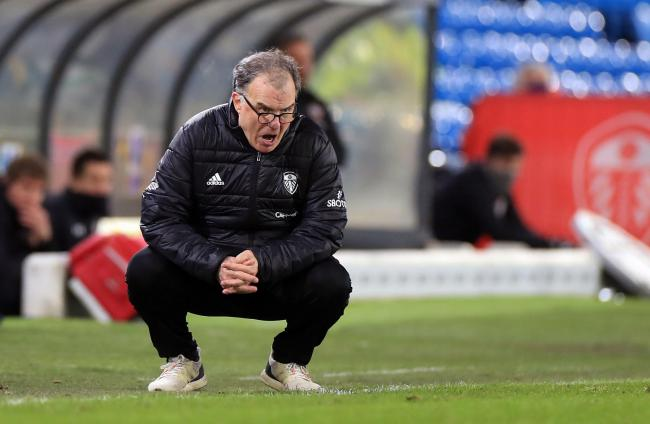 Leeds United manager Marcelo Bielsa on the touchline during the Premier League match at Elland Road, Leeds. Picture date: Tuesday February 23, 2021. PA Photo. See PA story SOCCER Leeds. Photo credit should read: Mike Egerton/PA Wire.