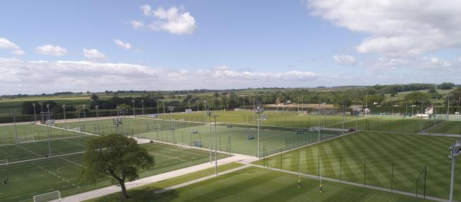 Sports pitches at Queen Ethelburga's Collegiate