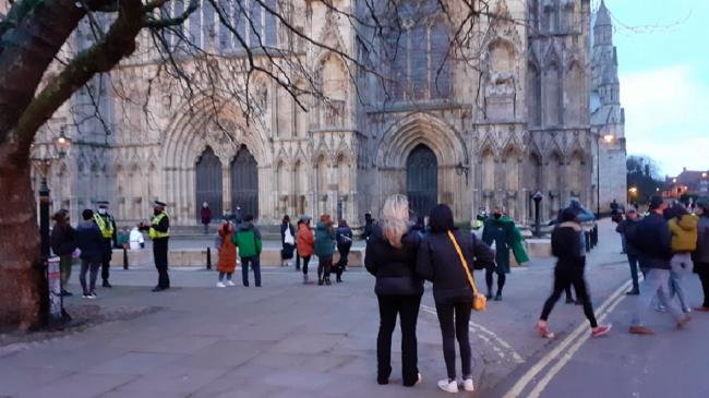 The 'Vigil for Sarah' at York Minster this evening. Picture: Stephen Lewis